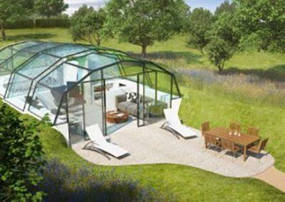 Стъклена къща в гората