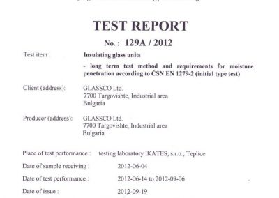 Test report 129A