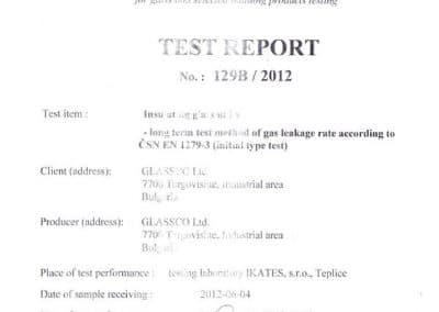 Test report 129B